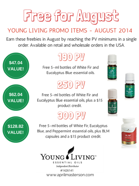 August 2014 Young Living Monthly Promotion