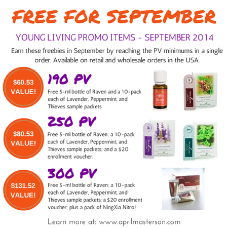 September 2014 Young Living Monthly Promotion