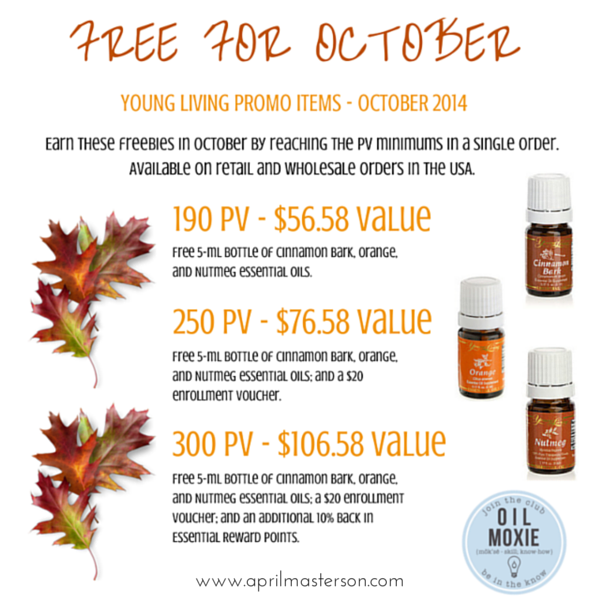 October 2014 Young Living Promotion