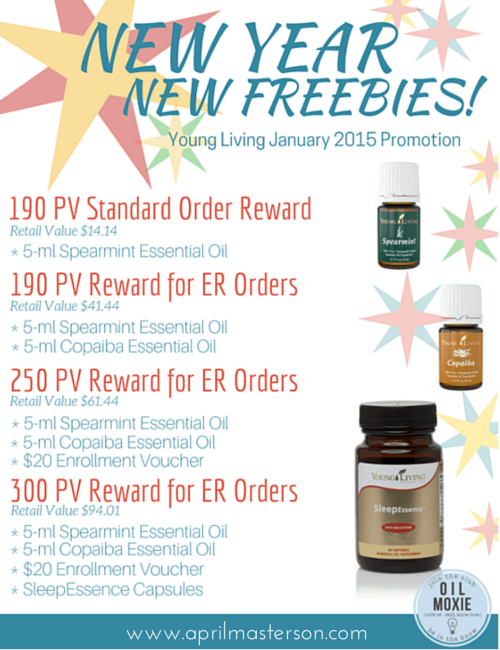 January 2105 Young Living Promotions