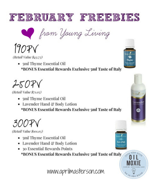 February 2015 Young Living Promotion