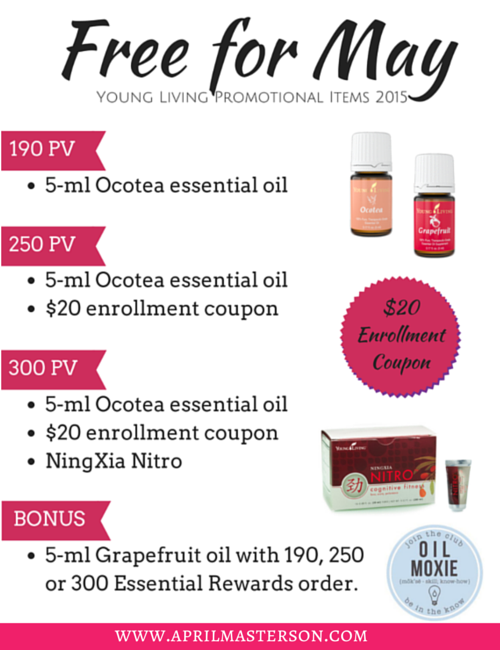 May 2015 Young Living Promotion