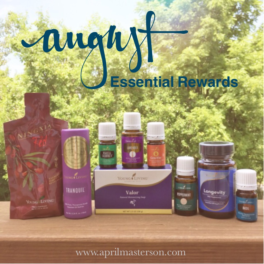 August Young Living Essential Rewards