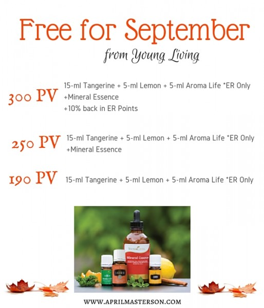 Young Living September 2015 Promotion