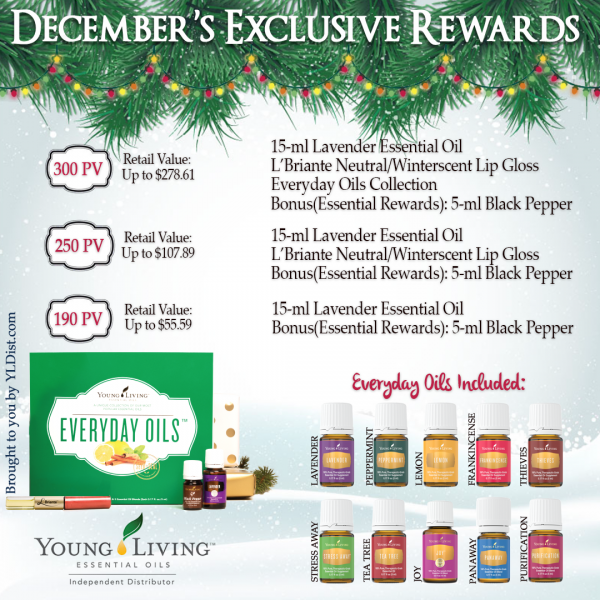 December 2015 Young Living Promotion