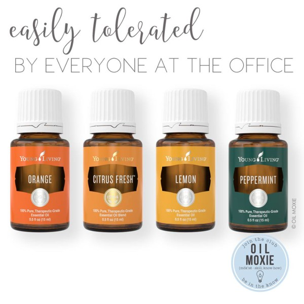 Using essential oils at work