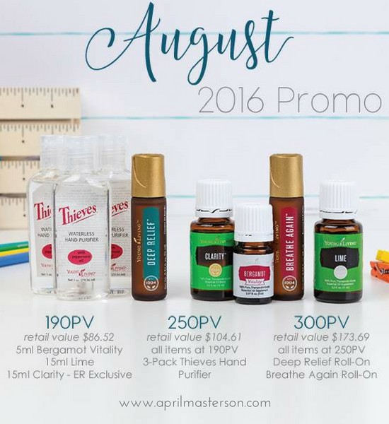 August 2016 Young Living Promotion