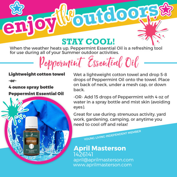 Peppermint essential oil to cool