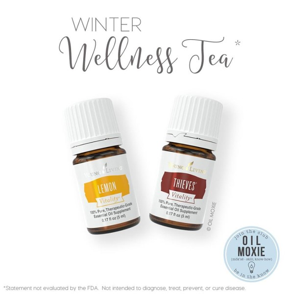 essential oil wellness tea
