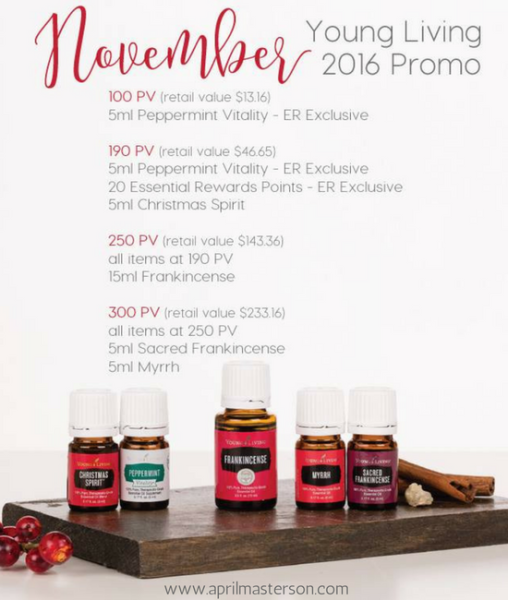 November 2016 Young Living Promotion