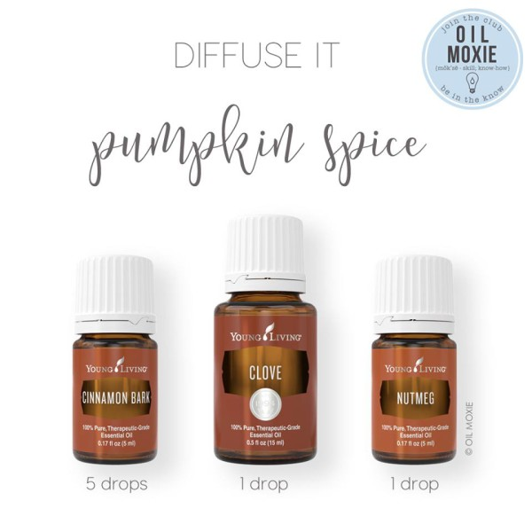 Pumpkin Spice essential oil diffuser recipe