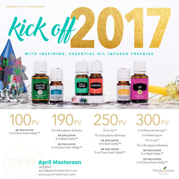 January 2017 Young Living Promotion