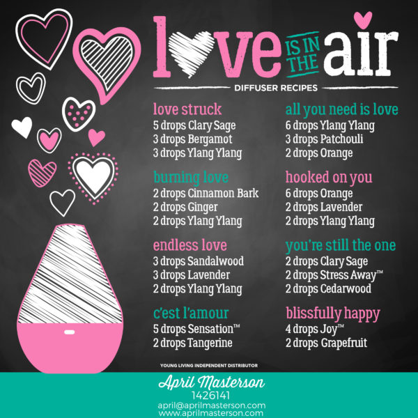Diffuser Recipes for Valentine's Day