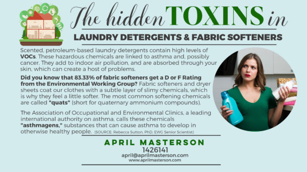 Toxins in laundry detergent and fabric softeners