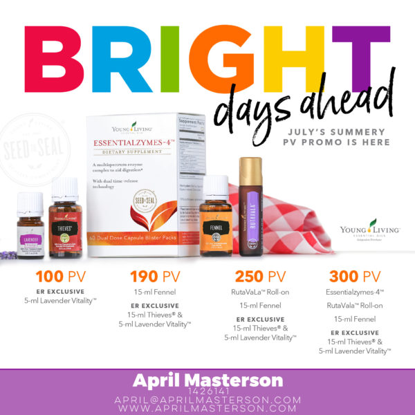 Young Living July 2017 Promotion
