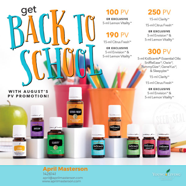 August 2017 Young Living Promotion