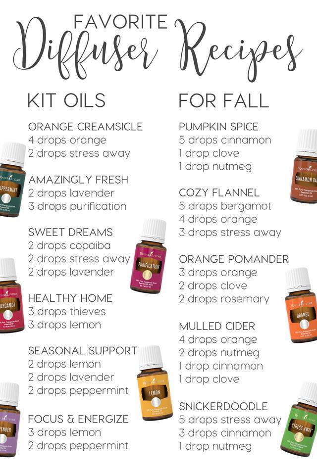 Diffuser Recipes for fall
